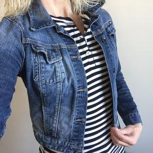 Lucky Brand Jeans Crop Jean Jacket XS